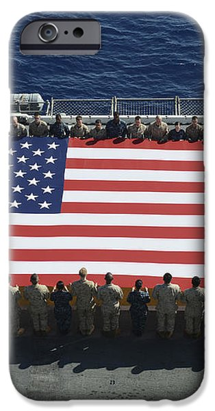 Sailors And Marines Display iPhone Case by Stocktrek Images