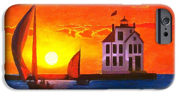 Lighthouse Pastels iPhone Cases - Sailors Delight iPhone Case by Jackie Massman
