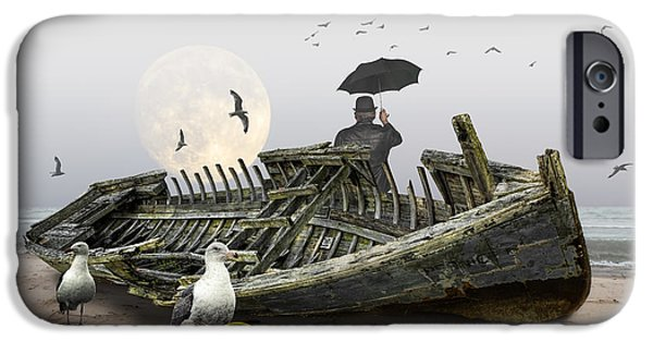 Moonscape iPhone Cases - Sailors Dream iPhone Case by Randall Nyhof