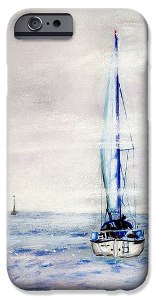 Fog Mist Pastels iPhone Cases - Sailors iPhone Case by Lawrence Golla