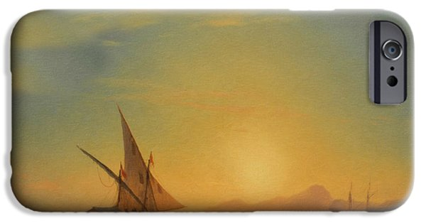 Impressionism Mixed Media iPhone Cases - Sails In The Sunset iPhone Case by Georgiana Romanovna