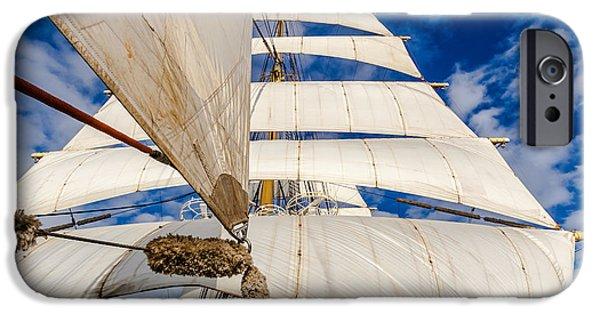 Sailboats iPhone Cases - Sails iPhone Case by Maslyaev Yury