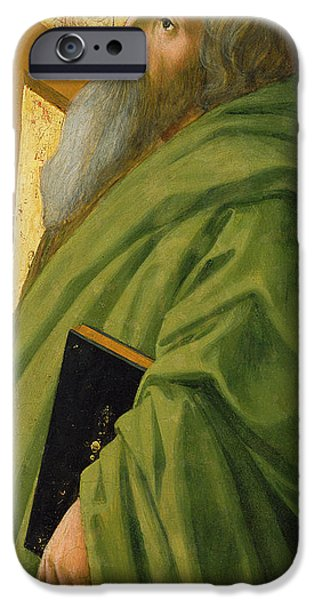 Disciples Paintings iPhone Cases - Saint Andrew iPhone Case by Tommaso Masaccio