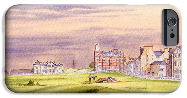 Professional Golf iPhone Cases - Saint Andrews Golf Course Scotland - 17Th Green iPhone Case by Bill Holkham