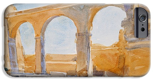 Maltese iPhone Cases - Saint Angelo, 2011 Wc On Paper iPhone Case by Lucy Willis