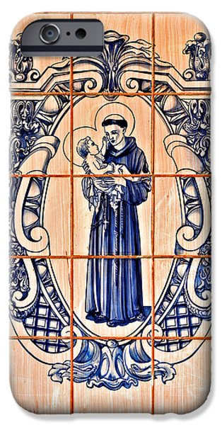 Portuguese iPhone Cases - Saint Anthony of Padua iPhone Case by Christine Till