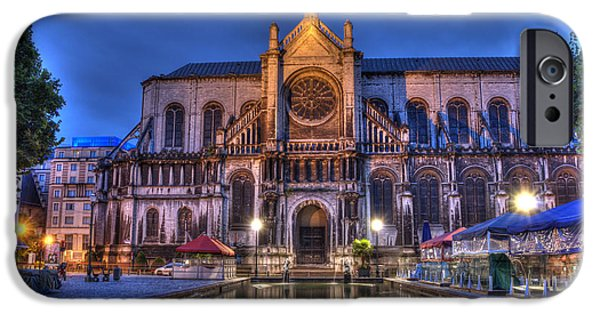 Catherine iPhone Cases - Saint Catherine Church. Brussels iPhone Case by Juli Scalzi
