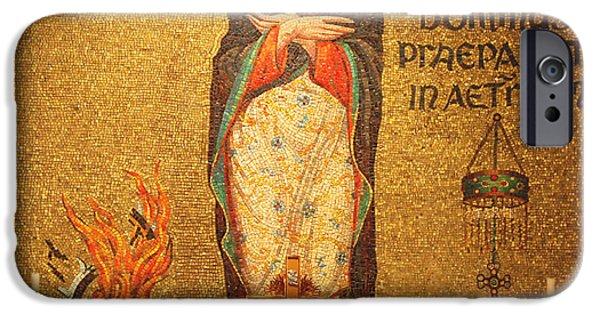Saint Catherine iPhone Cases - Saint Catherine of Alexandria Altar iPhone Case by Philip Ralley