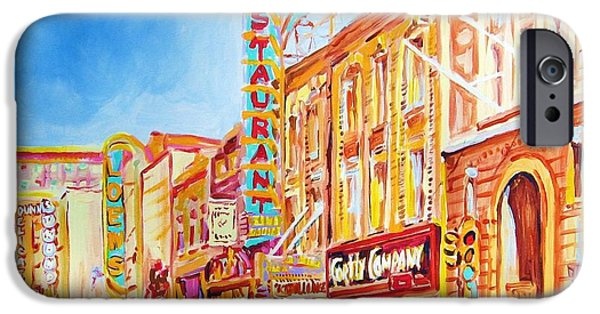 Montreal Memories. iPhone Cases - Saint Catherine Street Montreal iPhone Case by Carole Spandau
