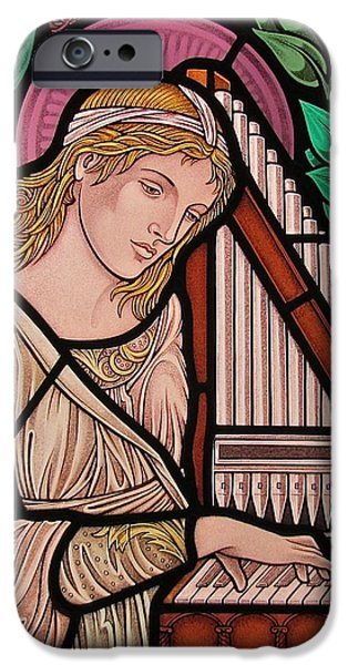 Saint Cecilia iPhone Case by Gilroy Stained Glass