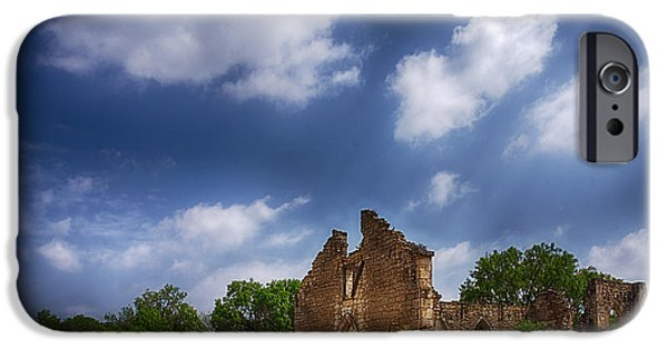 Recently Sold -  - Ruin iPhone Cases - Saint Dominic Catholic Church in Old DHanis Texas iPhone Case by Priscilla Burgers