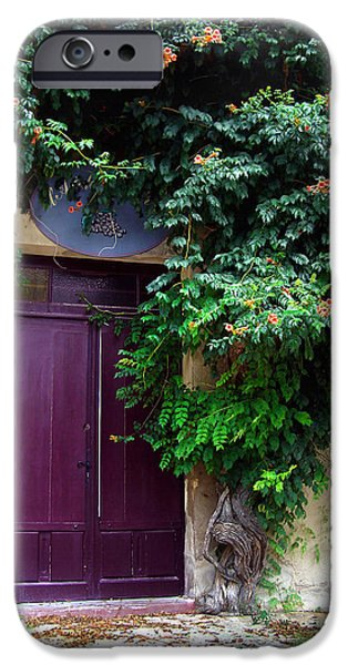 French Open iPhone Cases - Saint Emilion Door iPhone Case by Joan  Minchak