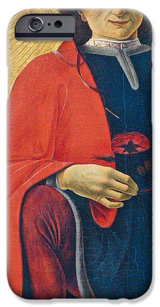 Sweeps iPhone Cases - Saint Florian iPhone Case by Francesco del Cossa