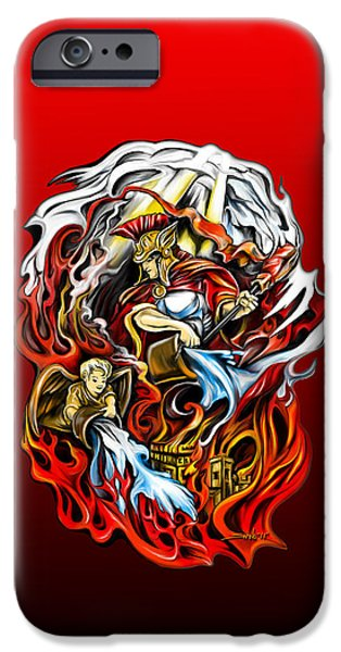 Saint iPhone Cases - Saint Florian iPhone Case by Michael Spano