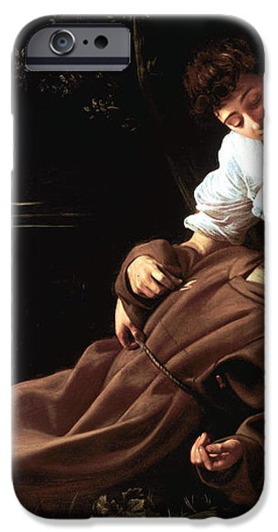 Saint Francis of Assisi in Ecstasy iPhone Case by Caravaggio
