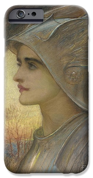 Lady Pastels iPhone Cases - Saint Joan of Arc iPhone Case by Sir William Blake Richomond
