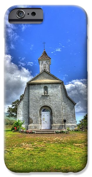 Saint Joeseph's Church Maui  Hawaii iPhone Case by Puget  Exposure
