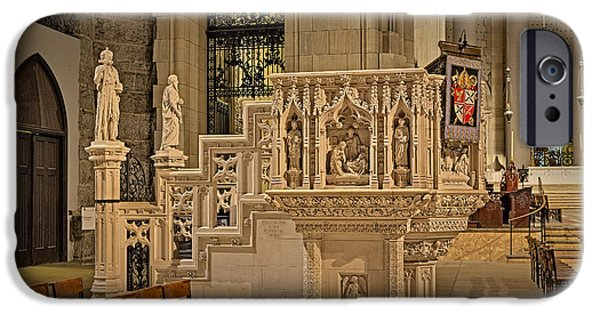 New York City iPhone Cases - Saint John The Divine Cathedral Pulpit iPhone Case by Susan Candelario