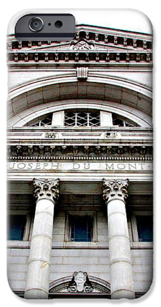 Saint Joseph du Mont Royal Facade iPhone Case by Valentino Visentini