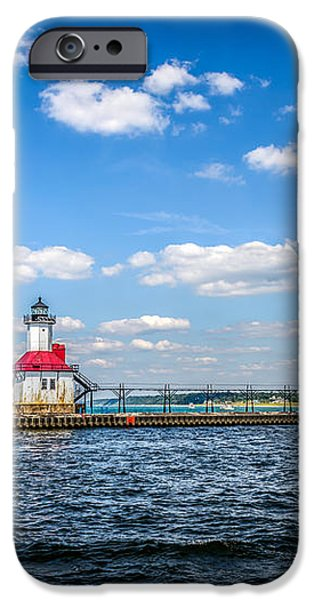 Saint Joseph Lighthouse and Pier Picture iPhone Case by Paul Velgos