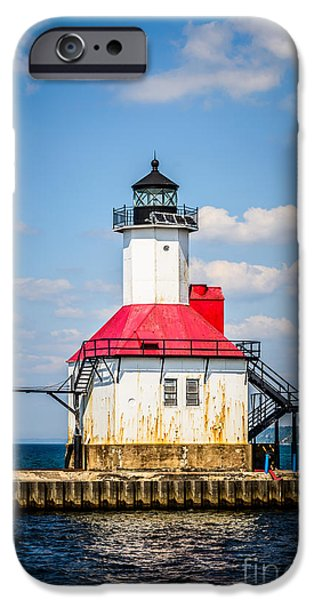 Lake House iPhone Cases - Saint Joseph Lighthouse Picture iPhone Case by Paul Velgos