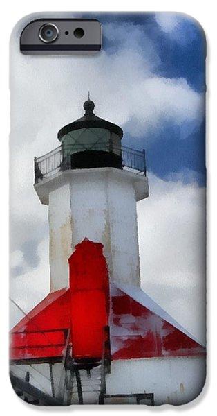 Saint Joseph Michigan Lighthouse iPhone Case by Dan Sproul