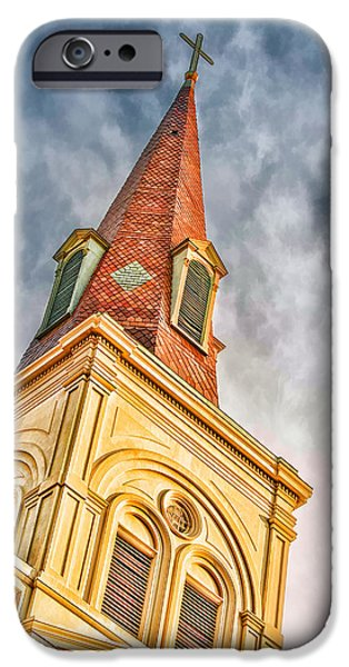 Brenda Bryant iPhone Cases - Saint Louis Cathedral iPhone Case by Brenda Bryant