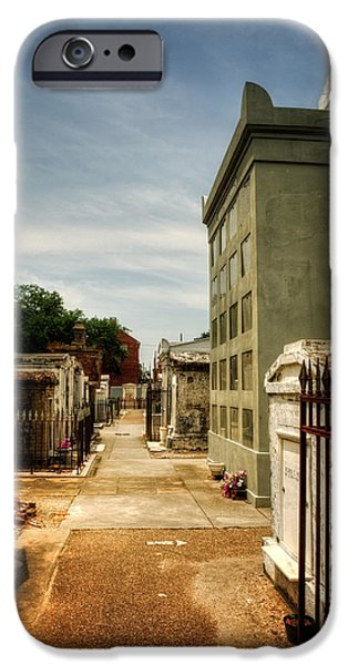 Chrystal iPhone Cases - Saint Louis Cemetery Number 1 iPhone Case by Chrystal Mimbs