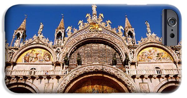 Mosaic iPhone Cases - Saint Marks Basilica, Venice, Italy iPhone Case by Panoramic Images