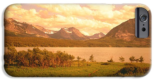 Pathway iPhone Cases - Saint Mary Lake, Montana, Usa iPhone Case by Panoramic Images