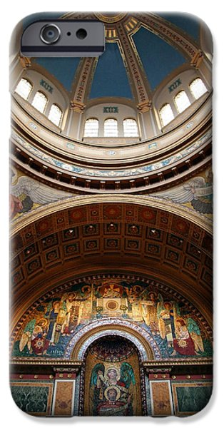 Cora Wandel iPhone Cases - Saint Matthews Cathedral iPhone Case by Cora Wandel