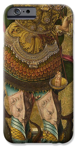 Michael Paintings iPhone Cases - Saint Michael iPhone Case by Carlo Crivelli