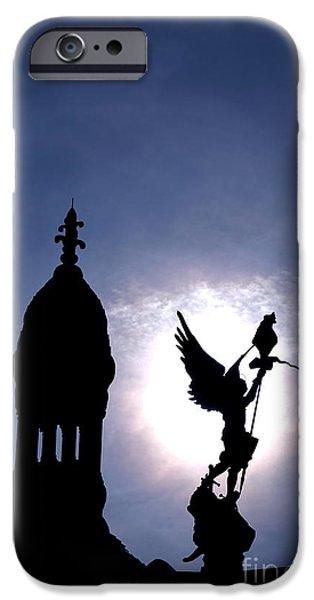 Byzantine iPhone Cases - Saint Michael The Archangel  iPhone Case by Olivier Le Queinec