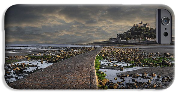 Cathedral Rock iPhone Cases - Saint Michaels Mount Cornwal UK iPhone Case by Martin Newman