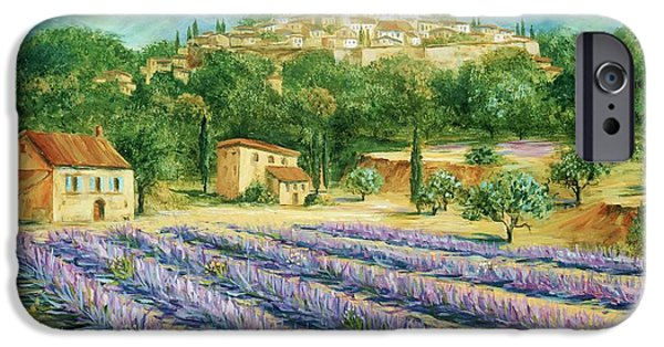 Provence Village iPhone Cases - Saint Paul de Vence and Lavender iPhone Case by Marilyn Dunlap