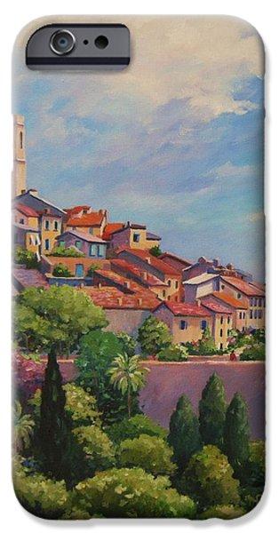 Provence Village iPhone Cases - Saint Paul de Vence  Detail iPhone Case by John Clark