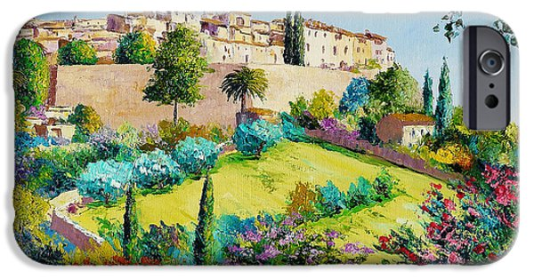 Old Town Digital iPhone Cases - Saint Paul de Vence iPhone Case by Jean-Marc Janiaczyk