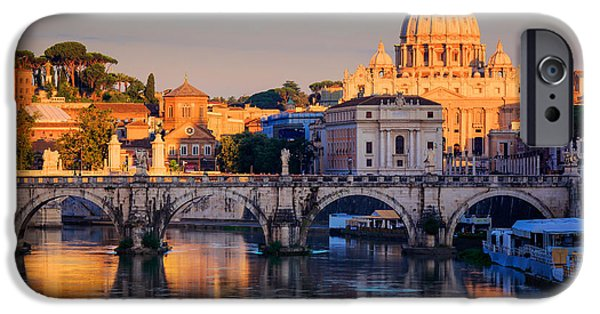 Vatican iPhone Cases - Saint Peters Basilica iPhone Case by Inge Johnsson