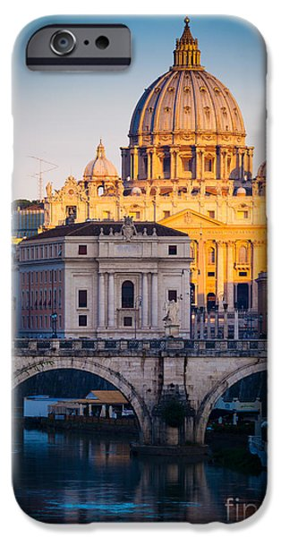 Christianity iPhone Cases - Saint Peters Dawn iPhone Case by Inge Johnsson