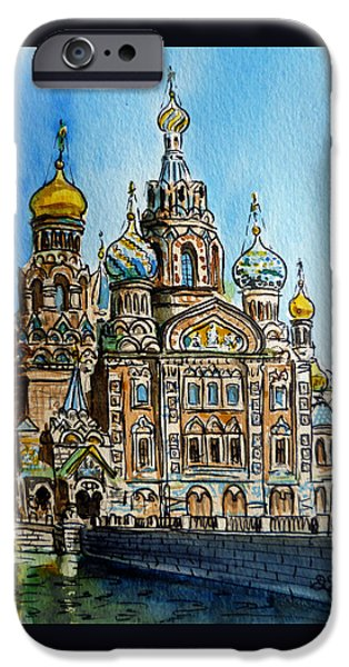 Church iPhone Cases - Saint Petersburg Russia The Church of Our Savior on the Spilled Blood iPhone Case by Irina Sztukowski