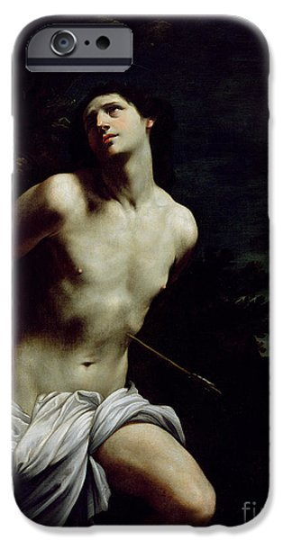 Martyr iPhone Cases - Saint Sebastian iPhone Case by Guido Reni