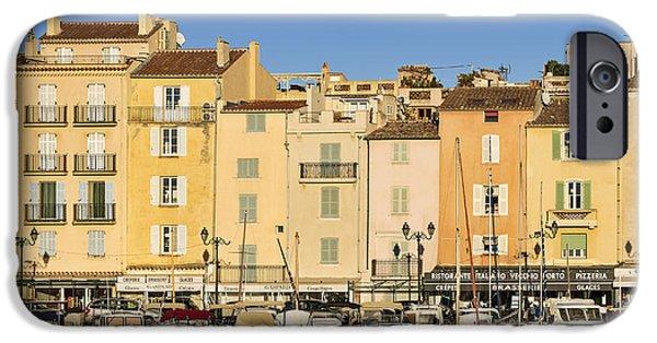 St.tropez iPhone Cases - Saint-Tropez Waterfront iPhone Case by John Greim