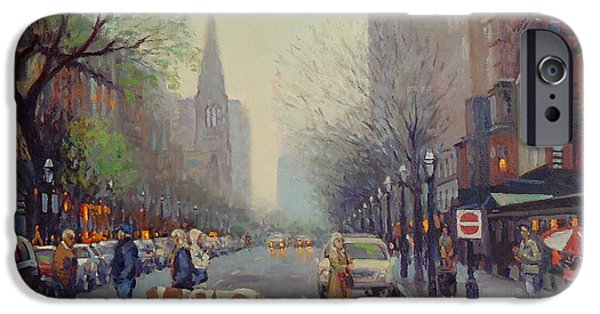 Dog Walking iPhone Cases - Saints Come Marching In iPhone Case by Dianne Panarelli Miller