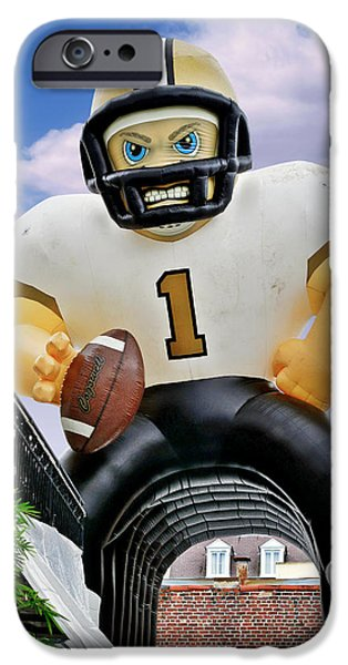 Quarterback iPhone Cases - Saints New Orleans iPhone Case by Christine Till