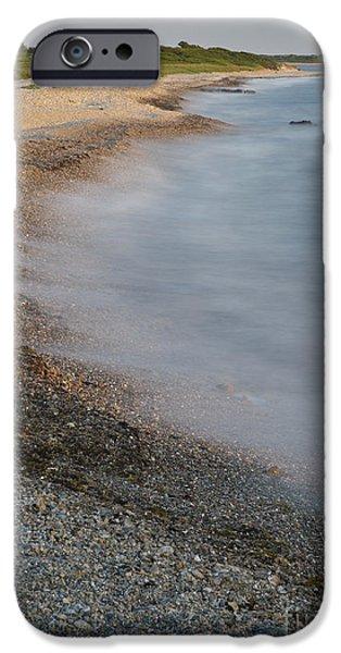 Beach Landscape iPhone Cases - Sakonnet Point Beach iPhone Case by John Shaw