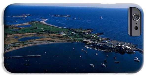 New England Lighthouse iPhone Cases - Sakonnet Point Lighthouse iPhone Case by Panoramic Images