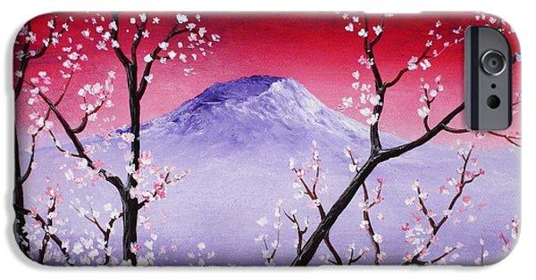 Cherry Blossoms Drawings iPhone Cases - Sakura iPhone Case by Anastasiya Malakhova