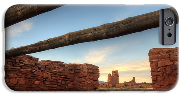 Sw New Mexico iPhone Cases - Salinas Pueblo Mission Abo Ruin 2 iPhone Case by Bob Christopher