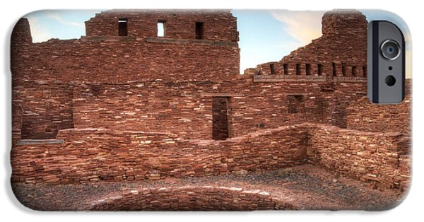 Sw New Mexico iPhone Cases - Salinas Pueblo Mission Abo Ruin 3 iPhone Case by Bob Christopher