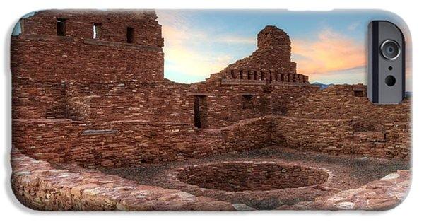 Sw New Mexico iPhone Cases - Salinas Pueblo Mission Abo Ruin iPhone Case by Bob Christopher